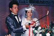 平成1年の結婚式の写真です
